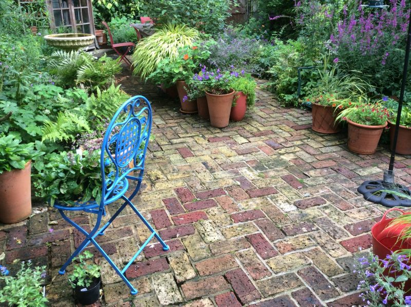 Brick paving after I've power washed it