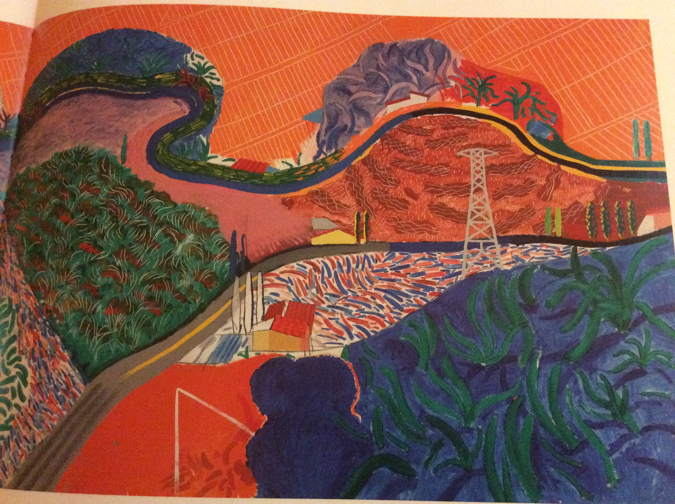 David Hockney's painting of Mulholland Drive California
