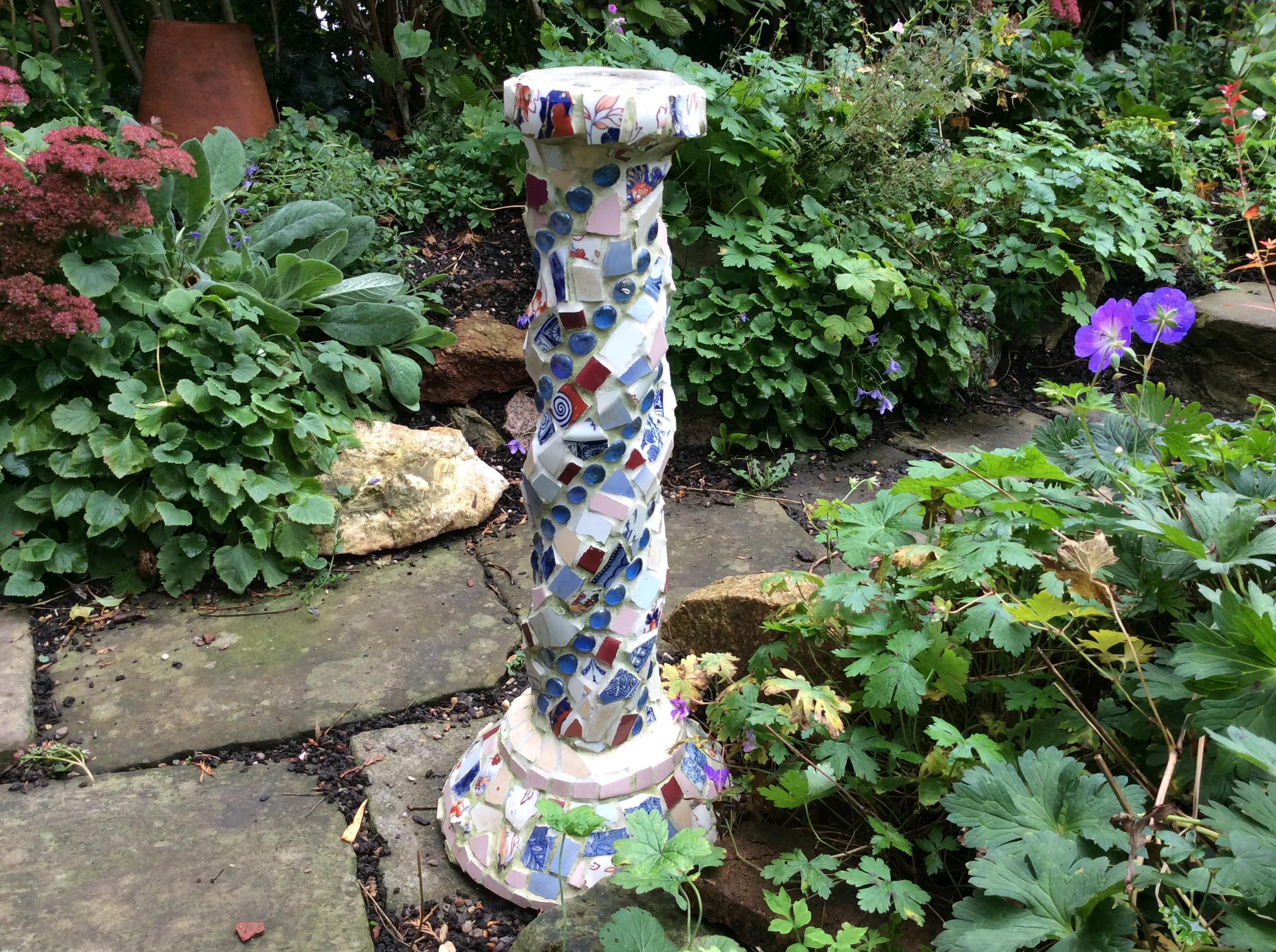 mosaic garden ornament