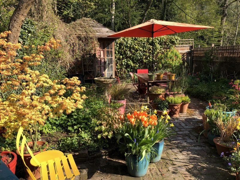 city cottage garden