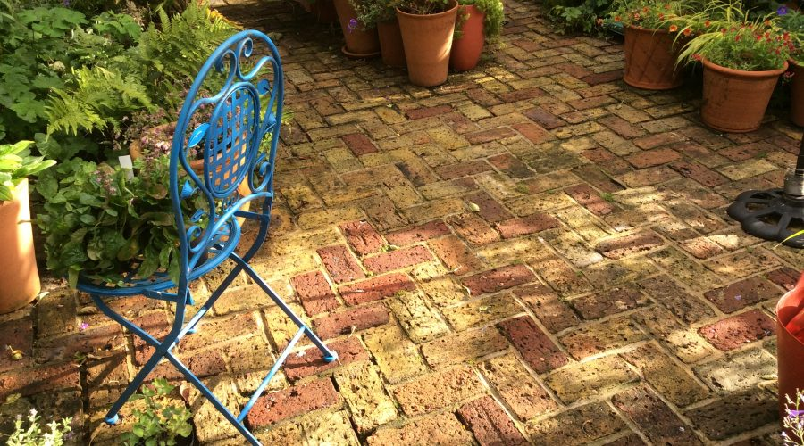 Lovely old brick paving without power washing